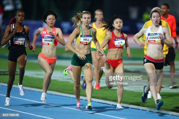 Linden Hall of Australia competes in the Women's 1 Mile Elimation during Nitro Athletics at Lakeside Stadium on February 4 2017 in Melbourne Australia