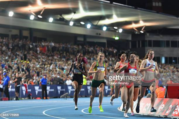 Linden Hall of Australia competes in the Women's 1 Mile Elimination during Nitro Athletics at Lakeside Stadium on February 4 2017 in Melbourne...