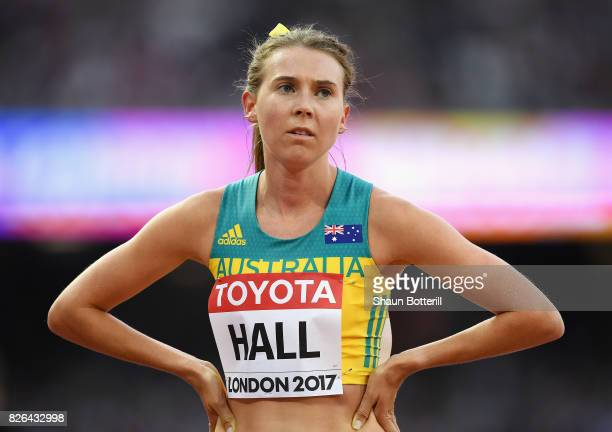 Linden Hall of Australia competes in the Women's 1500 metres during day one of the 16th IAAF World Athletics Championships London 2017 at The London...
