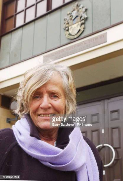 Lindis Percy outside the Magistrates Court in Cirencester where she went on trial charged with breaching security at an American airbase after...