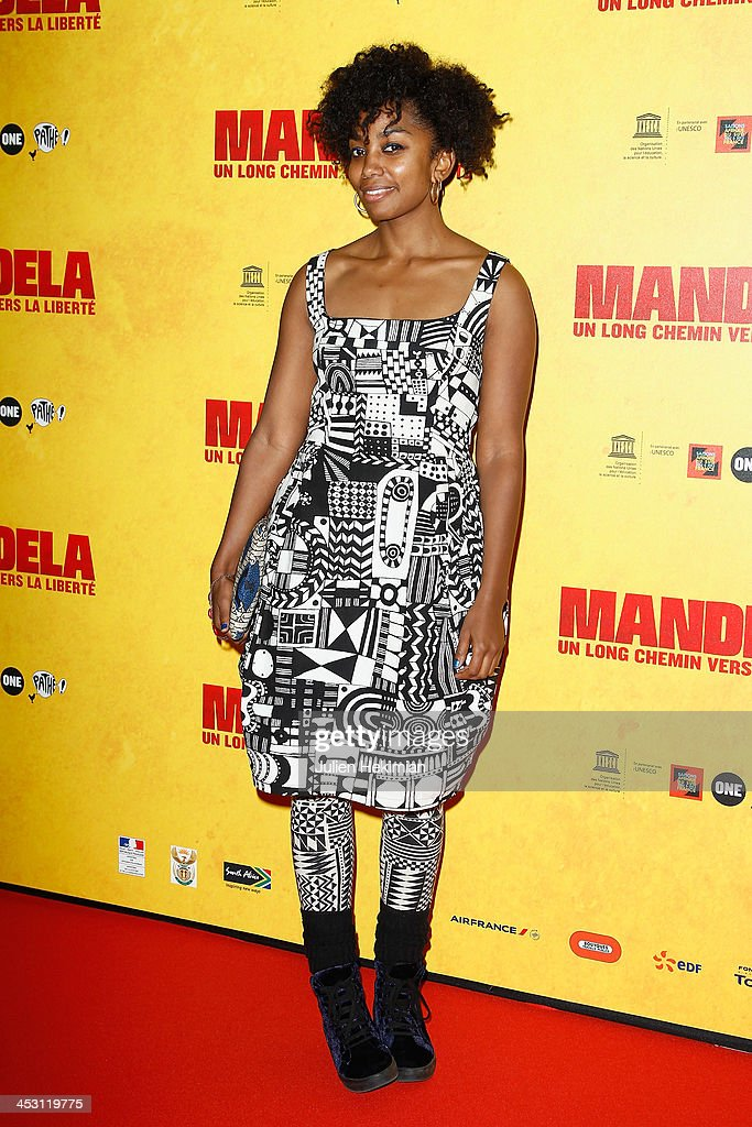 Lindiwe Matshikiza attends 'Mandela : Long Walk to Freedom' Paris Premiere at UNESCO on December 2, 2013 in Paris, France.