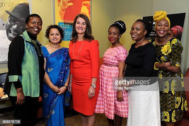 Lindiwe Sibanda Kusum Thapa Melinda Gates Chilufya Kasanda Jane Otai and Sisonke Msimang attend The Moth's 'Stories Of Women In The World' special...