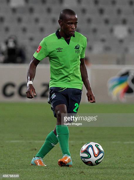 Lindokuhle Mbatha of Platinum Stars during the Absa Premiership match between Ajax Cape Town and Platinum Stars at Cape Town Stadium on December 21...