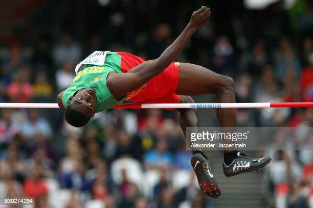 Lindon Victor of Grenada competes in the Men's Decathlon High Jump during day eight of the 16th IAAF World Athletics Championships London 2017 at The...
