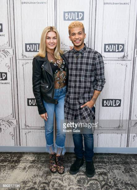 Lindsay Arnold and Jordan Fisher visit Build Series to discuss the 25th season of 'Dancing With The Stars' at Build Studio on September 20 2017 in...