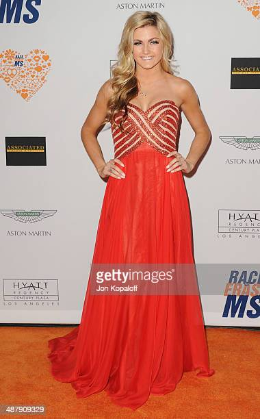 Lindsay Arnold arrives at the 21st Annual Race To Erase MS Gala at the Hyatt Regency Century Plaza on May 2 2014 in Century City California
