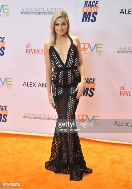 Lindsay Arnold arrives at the 24th Annual Race To Erase MS Gala at The Beverly Hilton Hotel on May 5 2017 in Beverly Hills California