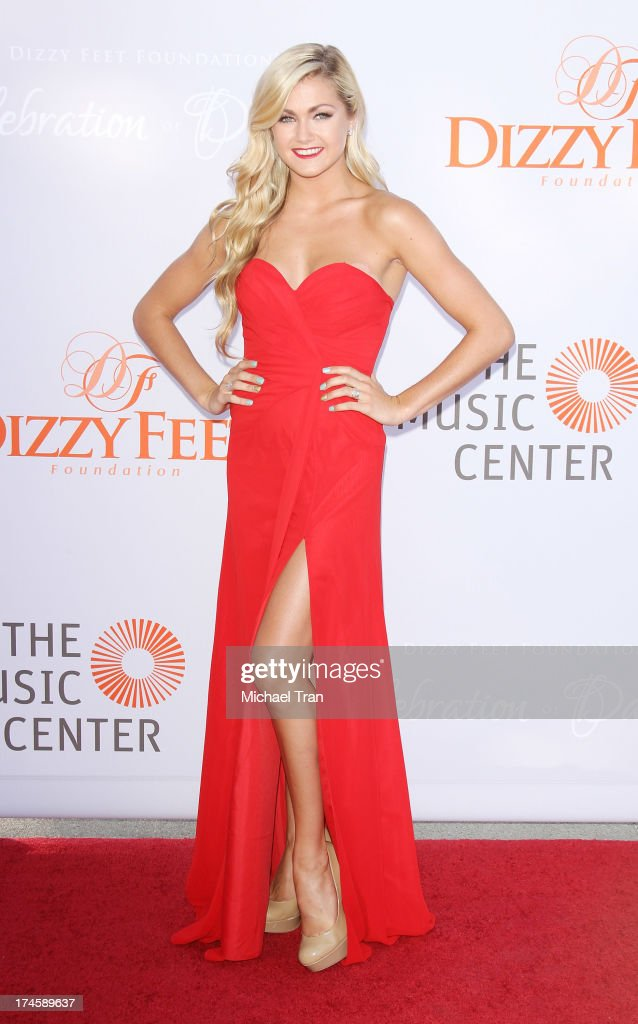 Lindsay Arnold arrives at the Dizzy Feet Foundation's 3rd Annual Celebration of Dance Gala held at Dorothy Chandler Pavilion on July 27, 2013 in Los Angeles, California.