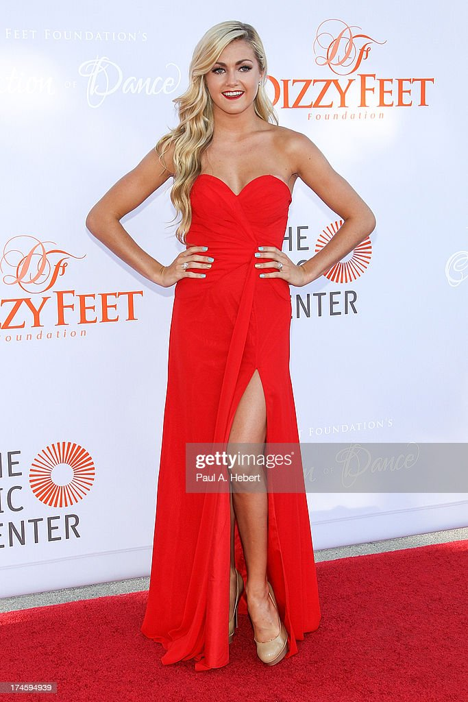 Lindsay Arnold attends the 3rd Annual Dizzy Feet Foundation's Celebration Of Dance Gala at Dorothy Chandler Pavilion on July 27, 2013 in Los Angeles, California.