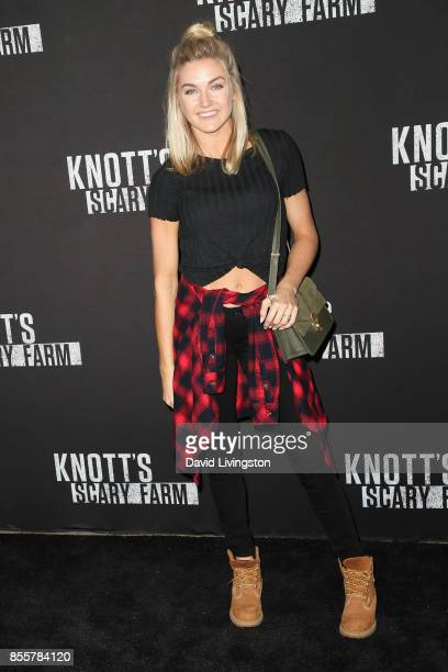 Lindsay Arnold attends the Knott's Scary Farm and Instagram's Celebrity Night at Knott's Berry Farm on September 29 2017 in Buena Park California