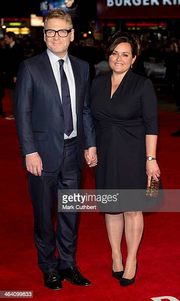 Lindsay Brunnock and Kenneth Branagh attend the UK Premiere of 'Jack Ryan Shadow Recruit' at Vue Leicester Square on January 20 2014 in London England