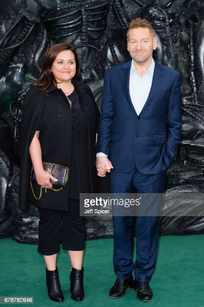 Lindsay Brunnock and Kenneth Branagh attend the World Premiere of 'Alien Covenant' at Odeon Leicester Square on May 4 2017 in London England