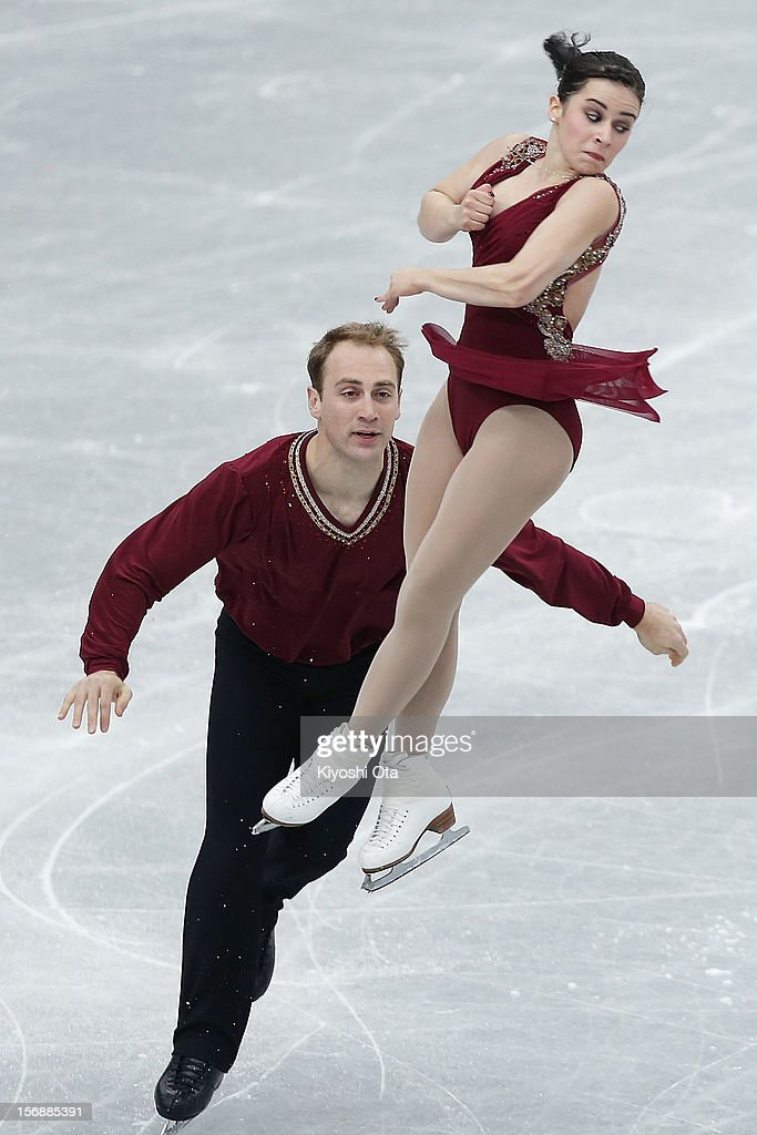 Lindsay Davis and Mark Ladwig of the United States compete in the Pairs Short Program during day two of the ISU Grand Prix of Figure Skating NHK Trophy at Sekisui Heim Super Arena on November 24, 2012 in Rifu, Japan.