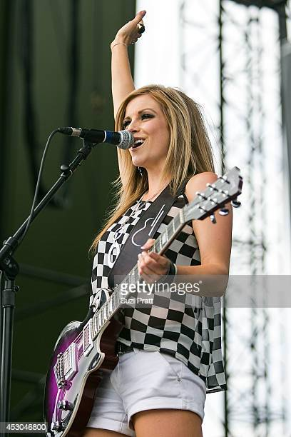 Lindsay Ell performs on stage during the Watershed Music Festival at The Gorge on August 1 2014 in George Washington