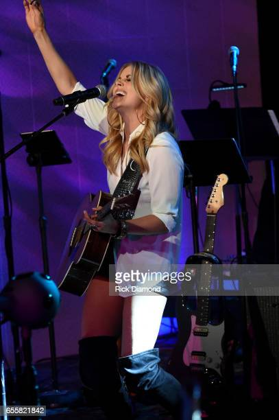 Lindsay Ell performs onstage during a special Woman's March Show at Skyville Live on March 20 2017 in Nashville Tennessee