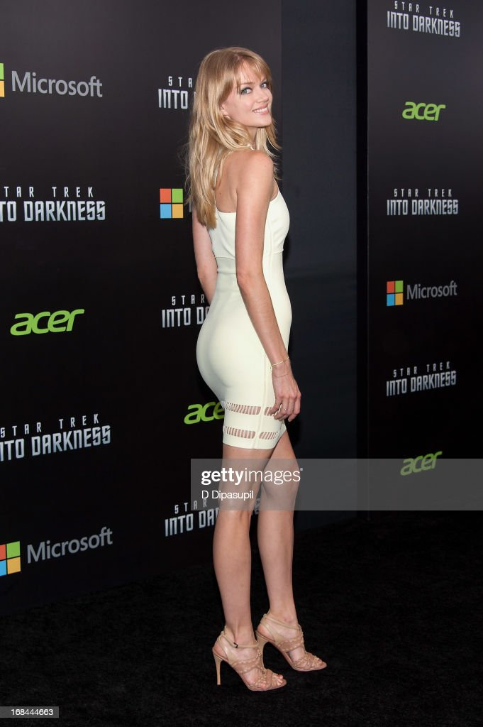 Lindsay Ellingson attends the 'Star Trek Into Darkness' screening at AMC Loews Lincoln Square on May 9, 2013 in New York City.