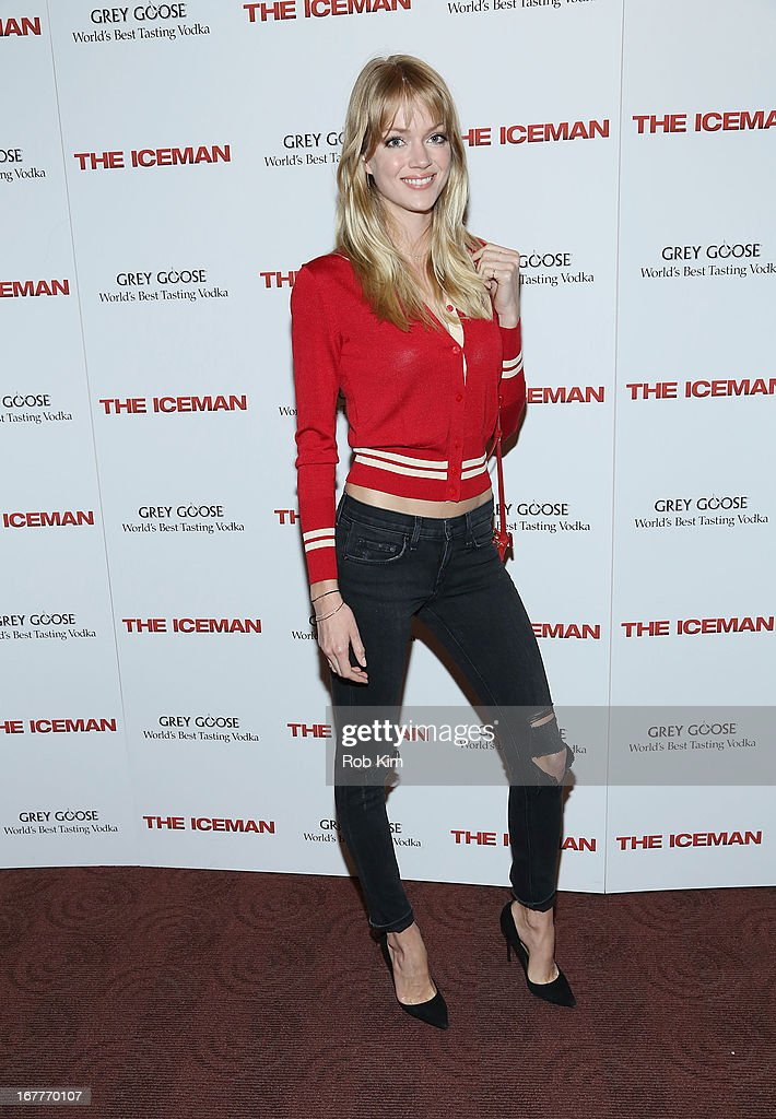 Lindsay Ellingson attends the 'The Iceman' screening presented by Millennium Entertainment and GREY GOOSE at Chelsea Clearview Cinemas on April 29, 2013 in New York City.