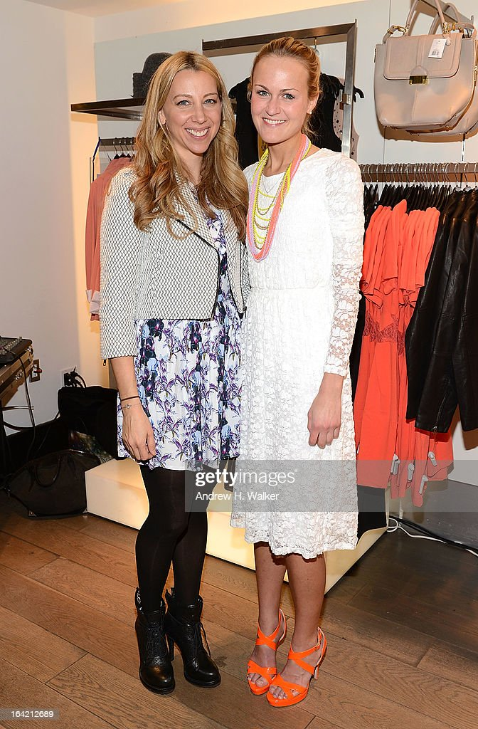 Lindsay Leif and Teen Vogue's Mary Kate Steinmiller attend the Topshop Prom Event on March 20, 2013 in New York City.