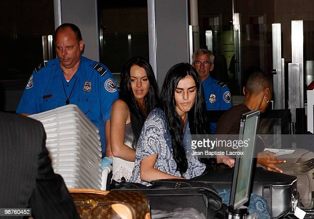 Lindsay Lohan and Ali Lohan arrive at LAX airport on April 29 2010 in Los Angeles California
