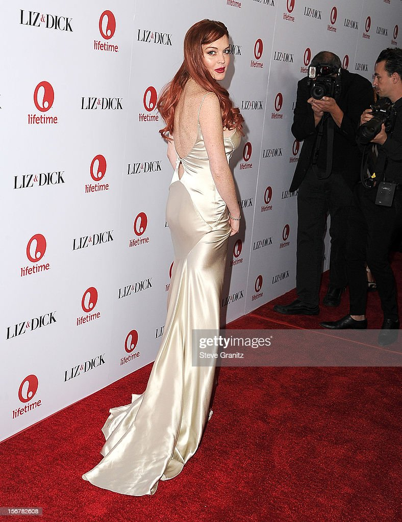 LIndsay Lohan arrives at the 'Liz & Dick' - Los Angeles Premiere at Beverly Hills Hotel on November 20, 2012 in Beverly Hills, California.