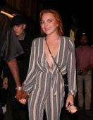Lindsay Lohan at Miabella night club on July 31 2014 in London England