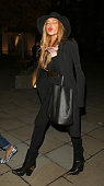 Lindsay Lohan attending the Chanel Exhibition Party at the Saatchi Gallery on October 12 2015 in London England