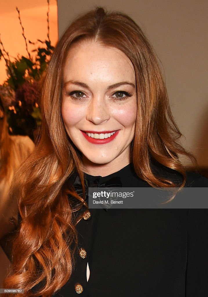 <a gi-track='captionPersonalityLinkClicked' href=/galleries/search?phrase=Lindsay+Lohan&family=editorial&specificpeople=171623 ng-click='$event.stopPropagation()'>Lindsay Lohan</a> attends an after party celebrating the World Premiere of 'The End Of Longing', written by and starring Matthew Perry, on February 11, 2016 in London, England.