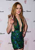 Lindsay Lohan attends Gabrielle's Gala at Old Billingsgate Market on May 7 2014 in London England Gabrielle's Gala is an annual fundraiser in aid of...