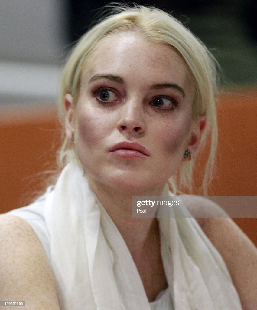 <a gi-track='captionPersonalityLinkClicked' href=/galleries/search?phrase=Lindsay+Lohan&family=editorial&specificpeople=171623 ng-click='$event.stopPropagation()'>Lindsay Lohan</a> attends her probation progress report hearing the Airport Courthouse on October 19, 2011 in Los Angeles, California. Judge Stephanie Sautner suspended Lohan's probation and bail has been set at USD 100,0000 after Lohan was terminated by the Downtown Women's Center for repeatedly failing to appear for community service. If Lohan posts bail she has been ordered to community service for 16 hours per week at the L.A. County coroner's office until her next court date on November 2. Lohan has been sentenced to a total of 480 hours of community service stemming from a 2007 drunk-driving conviction and a jewelry theft conviction earlier this year.