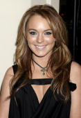 Lindsay Lohan attends NBC's Access Hollywood Golden Globe Party January 25 2004 in Hollywood California