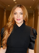 Lindsay Lohan attends The 59th Women of the Year Lunch at the InterContinental Park Lane Hotel on October 13 2014 in London England