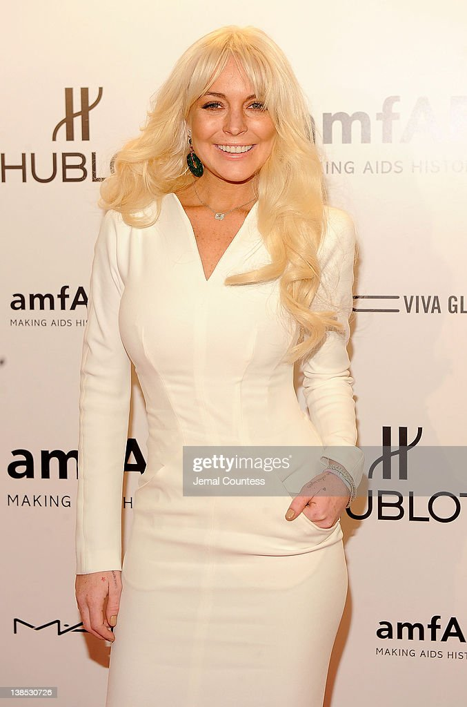 <a gi-track='captionPersonalityLinkClicked' href=/galleries/search?phrase=Lindsay+Lohan&family=editorial&specificpeople=171623 ng-click='$event.stopPropagation()'>Lindsay Lohan</a> attends the amfAR New York Gala To Kick Off Fall 2012 Fashion Week at Cipriani Wall Street on February 8, 2012 in New York City.