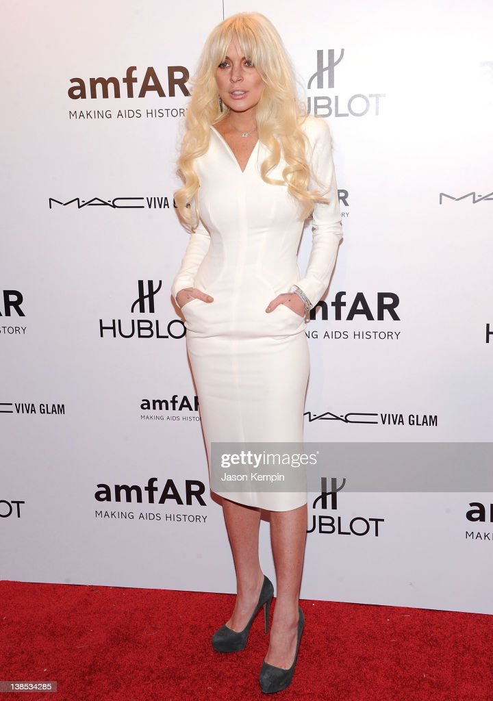 <a gi-track='captionPersonalityLinkClicked' href=/galleries/search?phrase=Lindsay+Lohan&family=editorial&specificpeople=171623 ng-click='$event.stopPropagation()'>Lindsay Lohan</a> attends the amfAR New York Gala To Kick Off Fall 2012 Fashion Week Presented By Hublot at Cipriani Wall Street on February 8, 2012 in New York City.