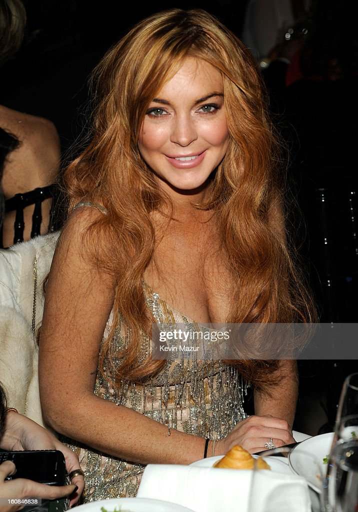 Lindsay Lohan attends the amfAR New York Gala To Kick Off Fall 2013 Fashion Week at Cipriani Wall Street on February 6, 2013 in New York City.