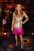 Lindsay Lohan attends the Chopard Christmas Party at Annabel's on December 2 2014 in London England