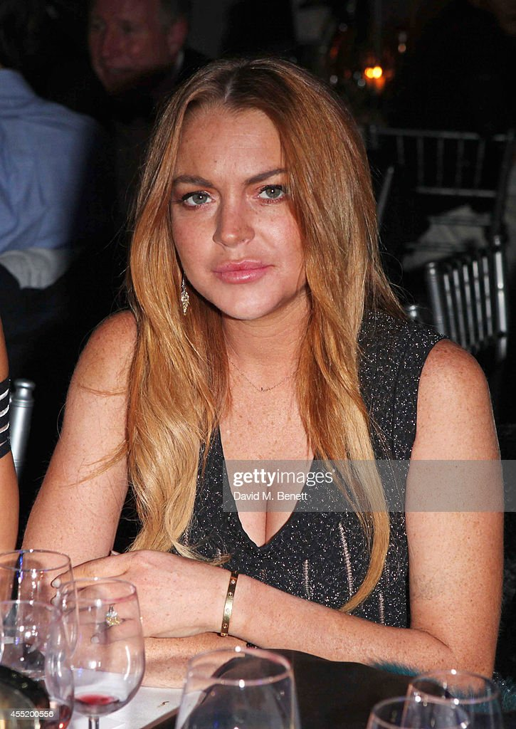 Lindsay Lohan attends the Chovgan Twilight Polo at Ham Polo Club on September 10 2014 in Richmond England