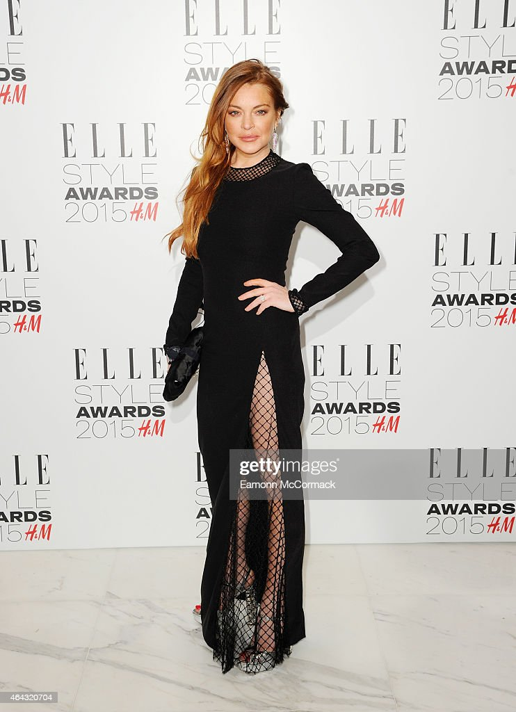Lindsay Lohan attends the Elle Style Awards 2015 at Sky Garden @ The Walkie Talkie Tower on February 24, 2015 in London, England.