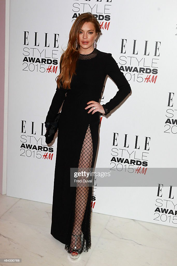 <a gi-track='captionPersonalityLinkClicked' href=/galleries/search?phrase=Lindsay+Lohan&family=editorial&specificpeople=171623 ng-click='$event.stopPropagation()'>Lindsay Lohan</a> attends the ELLE Style Awards at Sky Garden, 20 Fenchurch Street, EC3M 3BY on February 24, 2015 in London, England.