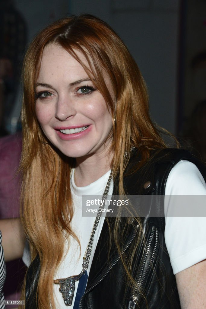 <a gi-track='captionPersonalityLinkClicked' href=/galleries/search?phrase=Lindsay+Lohan&family=editorial&specificpeople=171623 ng-click='$event.stopPropagation()'>Lindsay Lohan</a> attends the FLAUNT Magazine & Siwy present Virgin Sacrifices event on April 12, 2014 in Coachella, California.