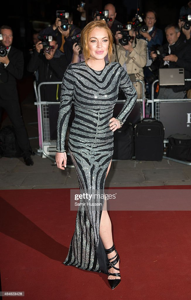 Lindsay Lohan attends the GQ Men of the Year awards at The Royal Opera House on September 2, 2014 in London, England.