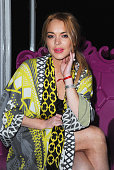 Lindsay Lohan attends the iD 35 x Jeremy Scott for Moschino party celebrating iD Magazine's 35th anniversary at Il Bottaccio on June 24 2015 in...