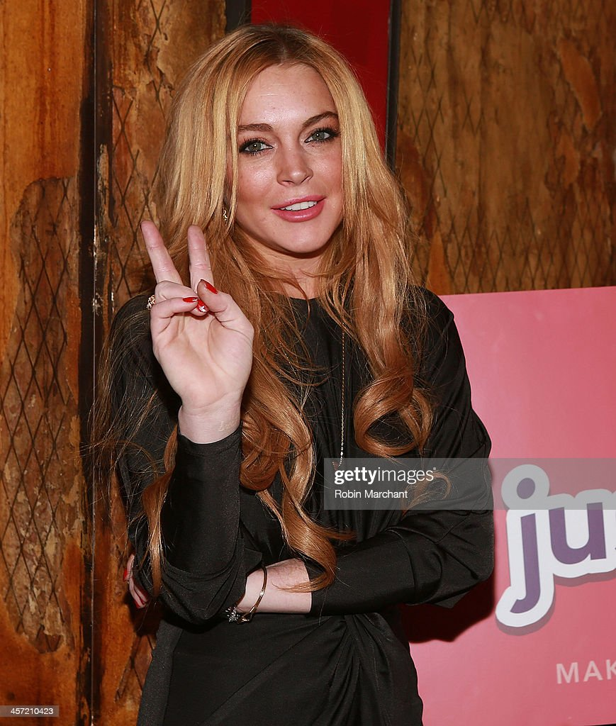 <a gi-track='captionPersonalityLinkClicked' href=/galleries/search?phrase=Lindsay+Lohan&family=editorial&specificpeople=171623 ng-click='$event.stopPropagation()'>Lindsay Lohan</a> attends the 'Just Sing It' app launch event at Pravda on December 16, 2013 in New York City.