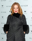 Lindsay Lohan attends the launch of 'Hunger Magazine We've Got Issues' at W London Leicester Square on February 20 2015 in London England