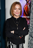 Lindsay Lohan attends the press night performance of 'Memphis The Musical' at The Floridita on October 23 2014 in London England