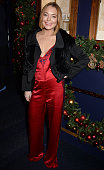 Lindsay Lohan attends the Sunday Times Style Xmas Party at Tramp on December 9 2014 in London England