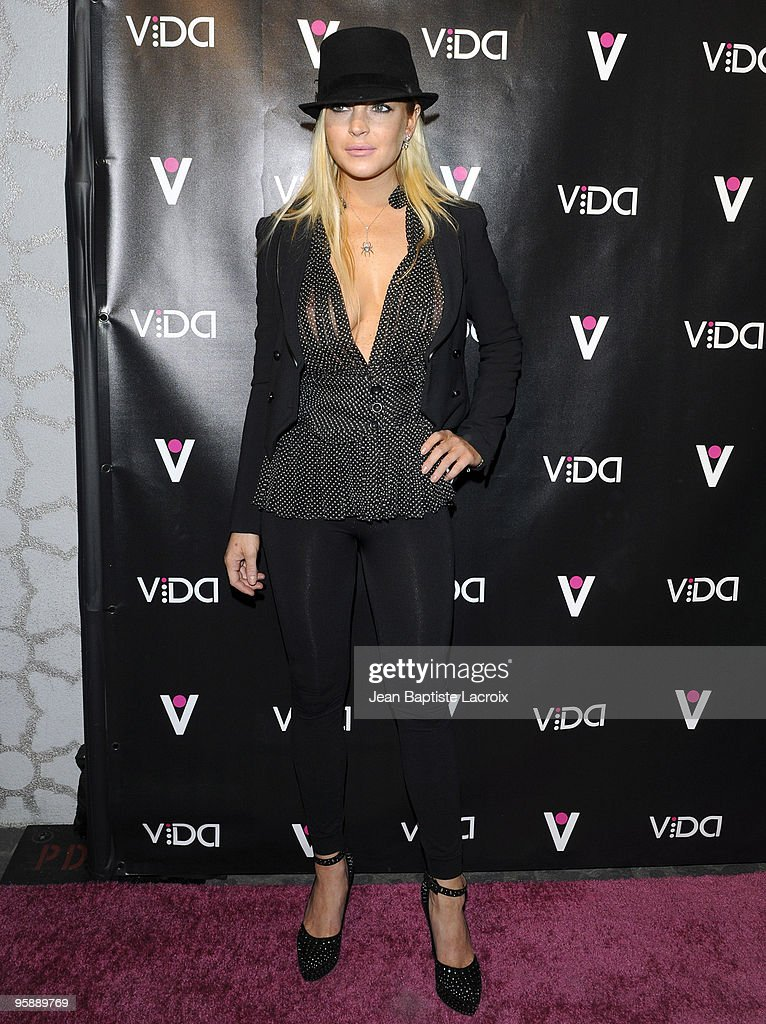 Lindsay Lohan attends the Vida launch party at Voyeur on January 13, 2010 in West Hollywood, California.