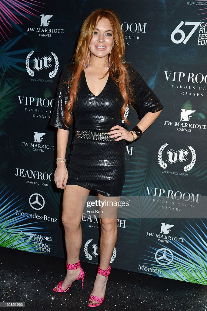 Lindsay Lohan attends the VIP Room JW Marriot Day 8 The 67th Annual Cannes Film Festival on May 21 2014 in Cannes France