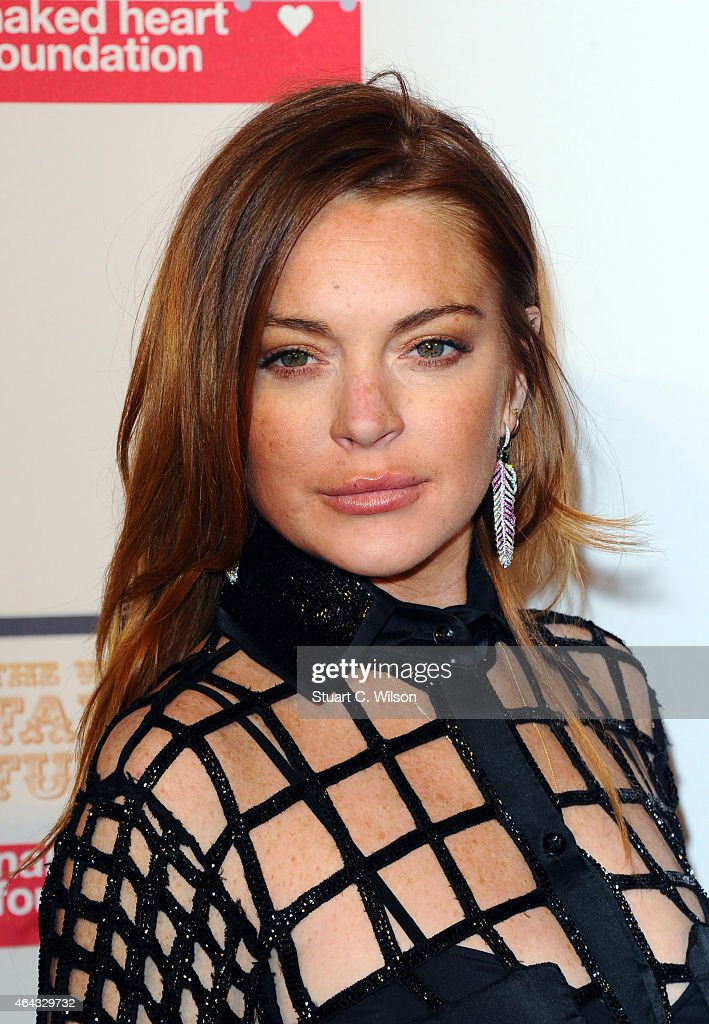 <a gi-track='captionPersonalityLinkClicked' href=/galleries/search?phrase=Lindsay+Lohan&family=editorial&specificpeople=171623 ng-click='$event.stopPropagation()'>Lindsay Lohan</a> attends The World's First Fabulous Fund Fair in aid of The Naked Heart Foundation at The Roundhouse on February 24, 2015 in London, England.
