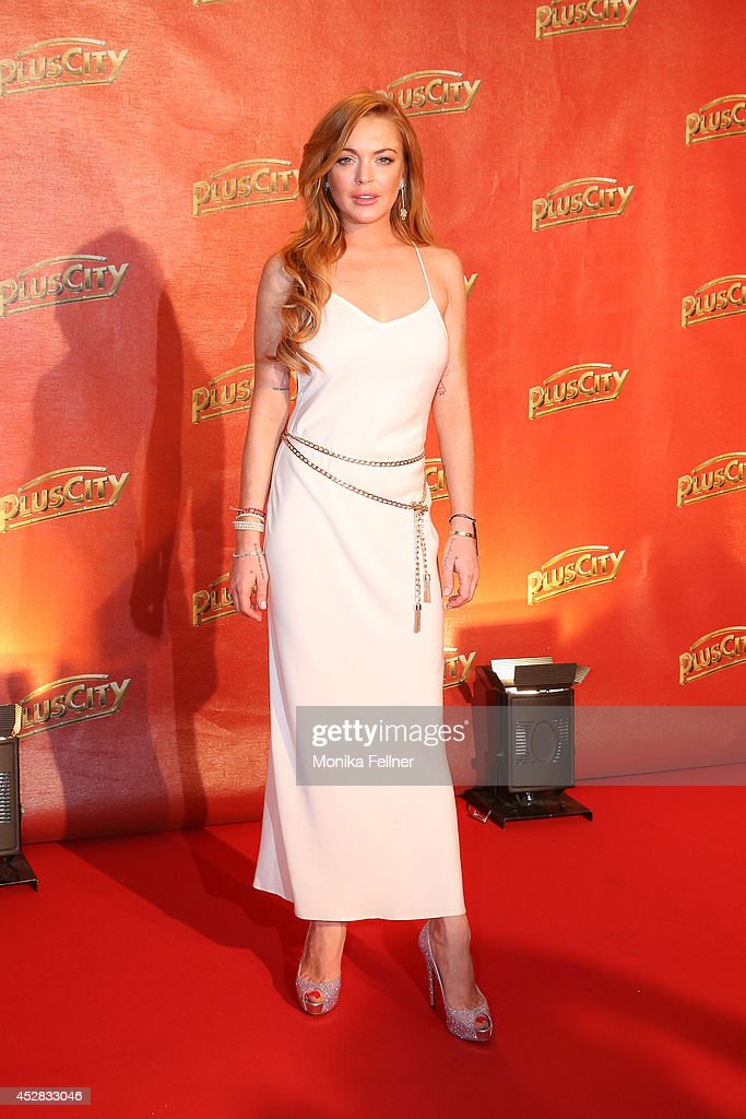 <a gi-track='captionPersonalityLinkClicked' href=/galleries/search?phrase=Lindsay+Lohan&family=editorial&specificpeople=171623 ng-click='$event.stopPropagation()'>Lindsay Lohan</a> attends 'Weisses Fest 2014' on July 26, 2014 in Linz, Austria.