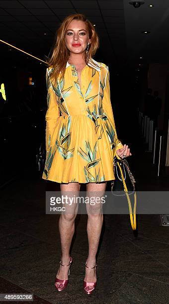 Lindsay Lohan attends Wonderland Magazine's 10th Anniversary Party at Drama night club in Mayfair on September 22 2015 in London England